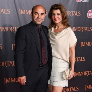 Ian Gomez, Nia Vardalos in Immortals 3D Los Angeles Premiere