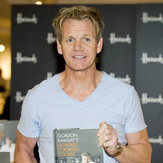 Gordon Ramsay Signs Copies of His Book Gordon Ramsay's Ultimate Cookery Course