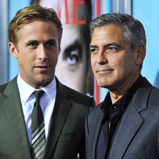 Ryan Gosling, George Clooney in The Premiere of The Ides of March - Arrivals