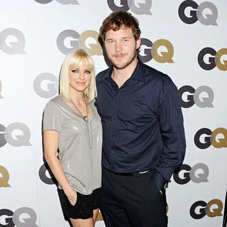 Anna Faris, Chris Pratt in The GQ 2010 Men of The Year Party