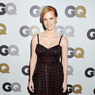 Jessica Chastain in The GQ 2010 Men of The Year Party