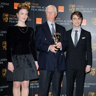 Holliday Grainger, Tim Corrie, Daniel Radcliffe in 2012 Orange British Academy Film Awards Nominations Announcement