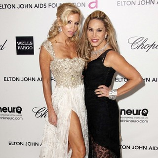 Camille Grammer, Adrienne Maloof in The 20th Annual Elton John AIDS Foundation's Oscar Viewing Party - Arrivals