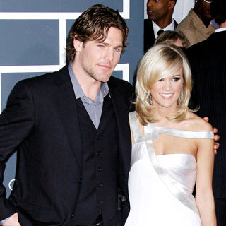 Mike Fisher, Carrie Underwood in 52nd Annual Grammy Awards