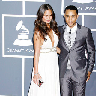John Legend, Christine Teigen in 52nd Annual Grammy Awards