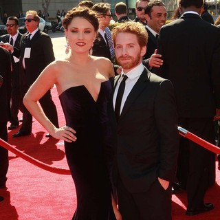 Clare Grant, Seth Green in 2012 Creative Arts Emmy Awards - Arrivals