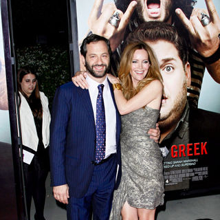 "Judd Apatow, Leslie Mann in Los Angeles Premiere of ""Get Him to the Greek"""