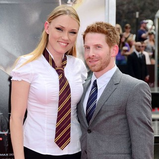 Clare Grant, Seth Green in New York Premiere of Harry Potter and the Deathly Hallows Part II - Arrivals