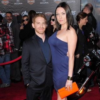 Seth Green, Clare Grant in World Premiere of The Avengers - Arrivals