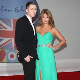 Professor Green, Millie Mackintosh in The BRIT Awards 2012 - Arrivals
