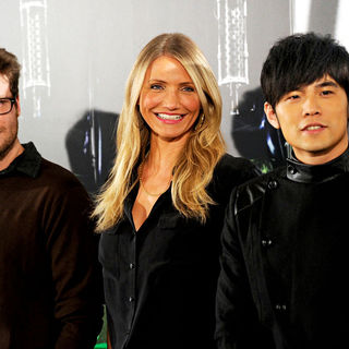 Seth Rogen, Cameron Diaz, Jay Chou in 'The Green Hornet' Photocall