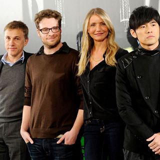 Christoph Waltz, Seth Rogen, Cameron Diaz, Jay Chou in 'The Green Hornet' Photocall