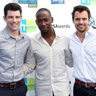 Max Greenfield, Lamorne Morris, Jake Johnson in The DoSomething.org and VH1's 2012 Do Something Awards