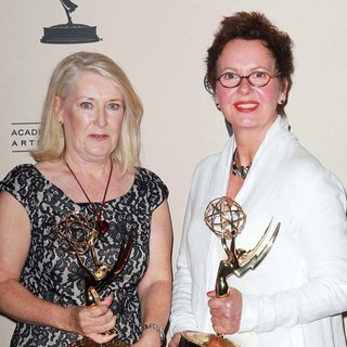 Christine Greenwood, Ann Oldham in 2012 Creative Arts Emmy Awards - Press Room