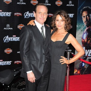 Clark Gregg, Jennifer Grey in World Premiere of The Avengers - Arrivals