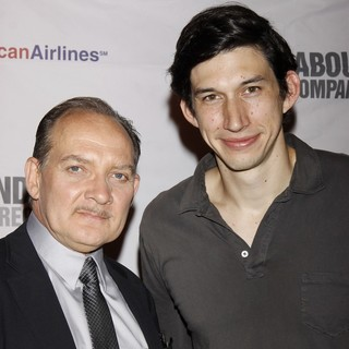 Zach Grenier, Adam Driver in Opening Night of The Broadway Play Man and Boy - After Party