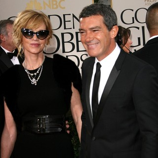 Melanie Griffith, Antonio Banderas in The 69th Annual Golden Globe Awards - Arrivals