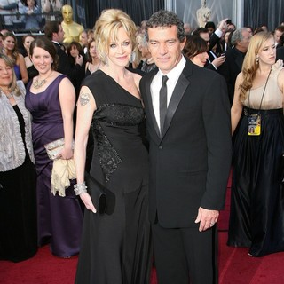 Melanie Griffith, Antonio Banderas in 84th Annual Academy Awards - Arrivals