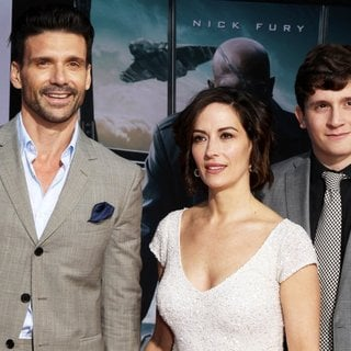 Frank Grillo, Wendy Moniz, Liam Grillo in Captain America: The Winter Soldier Los Angeles Premiere