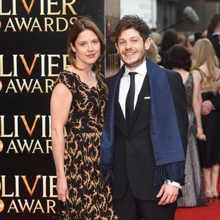 Zoe Grisedale, Iwan Rheon in The Olivier Awards 2015 - Arrivals
