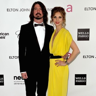 Dave Grohl, Jordyn Blum in The 20th Annual Elton John AIDS Foundation's Oscar Viewing Party - Arrivals