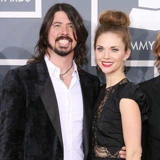 Dave Grohl, Jordyn Blum in 54th Annual GRAMMY Awards - Arrivals