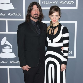Dave Grohl, Jordyn Blum in 55th Annual GRAMMY Awards - Arrivals