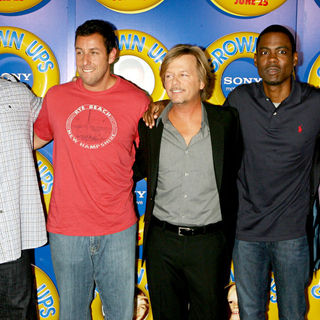 Kevin James, Adam Sandler, David Spade, Chris Rock, Rob Schneider in New York Premiere of 'Grown Ups' - Arrivals