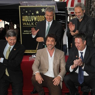 Leron Gubler, Javier Bardem, Sam Mendes in Javier Bardem Is Honored with A Hollywood Star on The Hollywood Walk of Fame