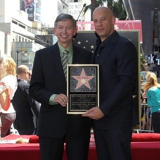 Leron Gubler, Vin Diesel in Vin Diesel Honored on The Hollywood Walk of Fame