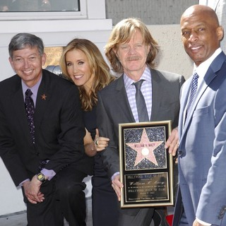 Leron Gubler, Felicity Huffman, William H. Macy, Marty Shelton in Felicity Huffman and William H. Macy Are Honored with Stars at The Hollywood Walk of Fame