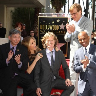 Leron Gubler, Felicity Huffman, William H. Macy, Aaron Sorkin, Marty Shelton in Felicity Huffman and William H. Macy Are Honored with Stars at The Hollywood Walk of Fame