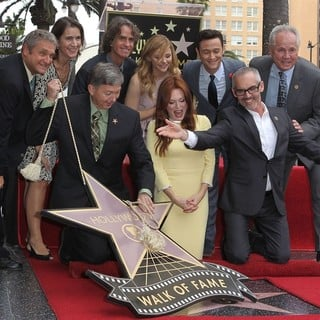 Leron Gubler, Jay Roach, Chloe Moretz, Julianne Moore, Joseph Gordon-Levitt, Mitch O'Farrell, Tom LaBonge in Julianne Moore Honored with Star at The Hollywood Walk of Fame