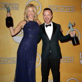 Anna Gunn, Aaron Paul in The 20th Annual Screen Actors Guild Awards - Press Room