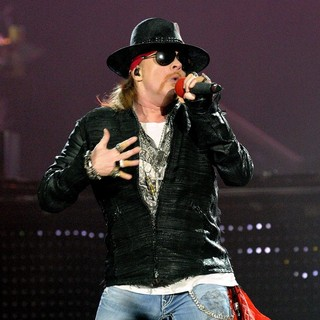 Axl Rose, Guns N' Roses in Guns N' Roses Perform on Stage at Copps Coliseum in Hamilton