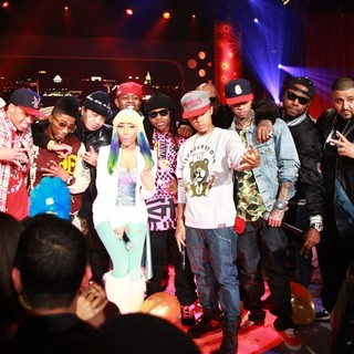 Cory Gunz, Lil Twist, Gudda Gudda, Nicki Minaj, Jae Millz, Lil Chuckee, Birdman, Bow Wow, Tyga, Mack Maine in BET's 106 and Park New Year's Eve Show