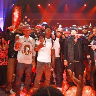 Cory Gunz, Lil Twist, Gudda Gudda, Lil Wayne, Jae Millz, Lil Chuckee, Birdman, Bow Wow, Tyga, Mack Maine in BET's 106 and Park New Year's Eve Show