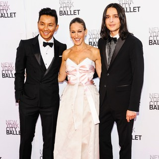 Prabal Gurung, Sarah Jessica Parker, Olivier Theyskens in New York City Ballet 2013 Fall Gala