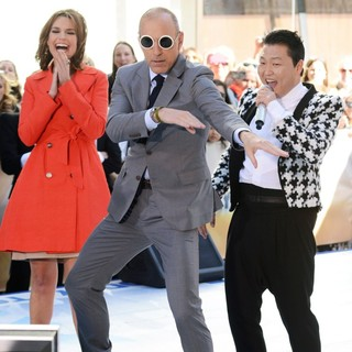Savannah Guthrie, Matt Lauer, PSY in PSY Performing Live as Part of NBC's Today Show Concert Series