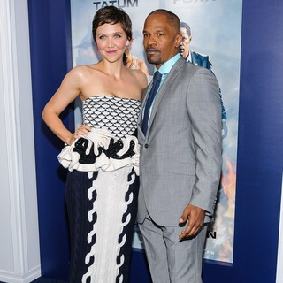 Maggie Gyllenhaal, Jamie Foxx in New York Premiere of White House Down