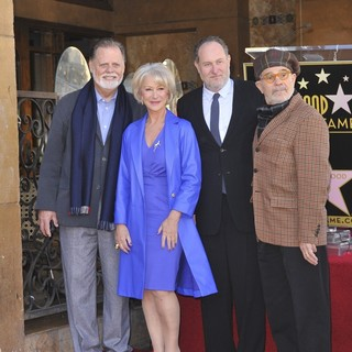 Taylor Hackford, Helen Mirren, Jon Turteltaub, David Mamet in Helen Mirren Honored with A Star on The Hollywood Walk of Fame
