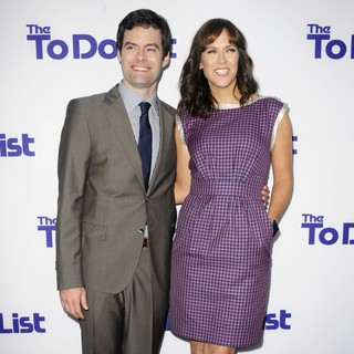 Bill Hader, Maggie Carey in Los Angeles Premiere of The To Do List