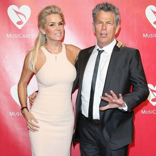 Yolanda Hadid, David Foster in 2012 MusiCares Person of The Year Gala Honoring Paul McCartney