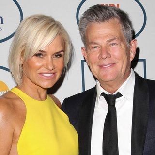 Yolanda Hadid, David Foster in 2014 Pre-Grammy Gala and Grammy Salute to Industry Icons - Clive Davis