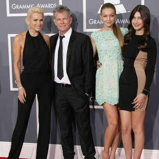 Yolanda Hadid, David Foster in 55th Annual GRAMMY Awards - Arrivals