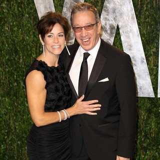 Jane Hajduk, Tim Allen in 2012 Vanity Fair Oscar Party - Arrivals