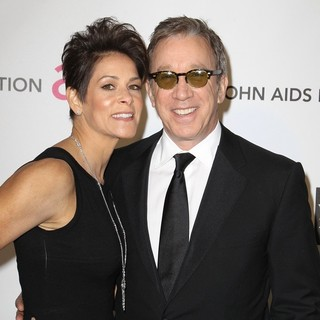 Jane Hajduk, Tim Allen in 21st Annual Elton John AIDS Foundation's Oscar Viewing Party