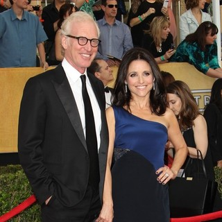 Brad Hall, Julia Louis-Dreyfus in The 20th Annual Screen Actors Guild Awards - Arrivals