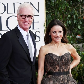 Brad Hall, Julia Louis-Dreyfus in 70th Annual Golden Globe Awards - Arrivals