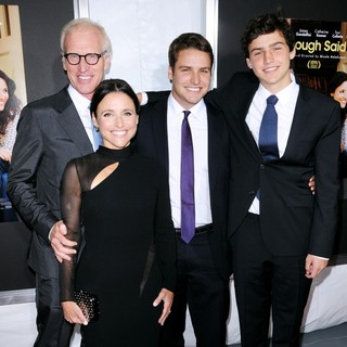 Brad Hall, Julia Louis-Dreyfus, Henry Hall, Charles Hall in New York Screening of Enough Said - Red Carpet Arrivals